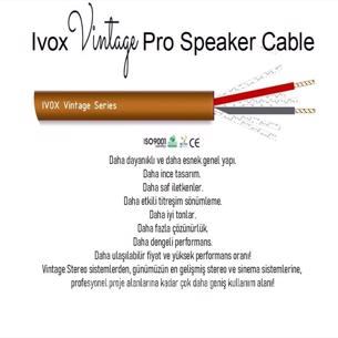 Ivox vintage pro series speaker cable 2x1.5 mm2