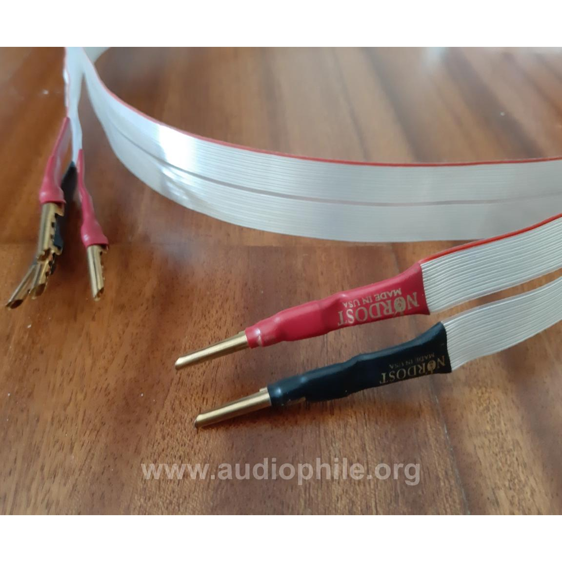 Nordost red down 2x2mt. bi wire speaker cable